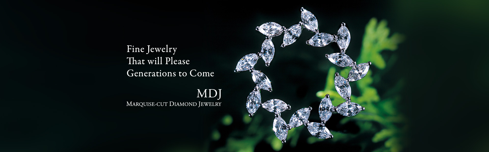 MDJ Marquise-cut Diamond Jewelry