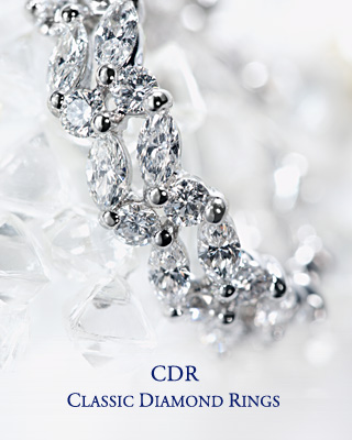 CDR Classic Diamond Rings / Enjoy a Continuous Line of Diamond Brilliance